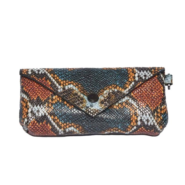 Small Multicolored pouch with flap
