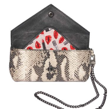 Small Snakeskin pouch with flap