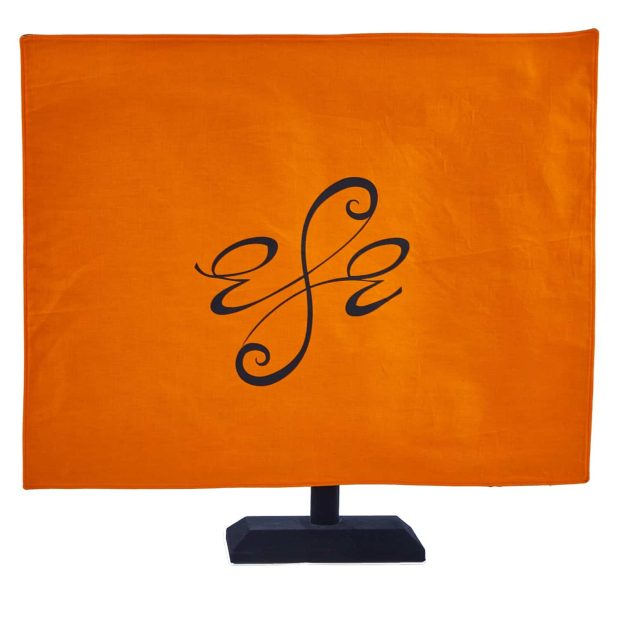 Seat Scarf with Just Logo - Persimmon / Orange