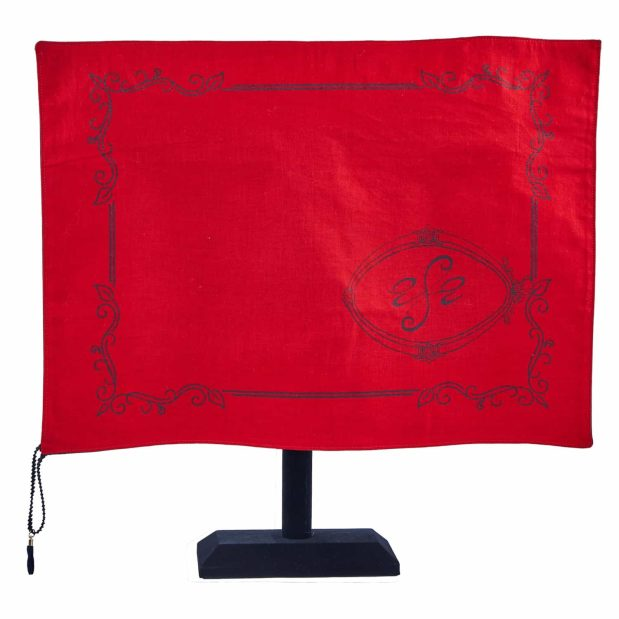 Seat Scarf with Wide Logo - Red