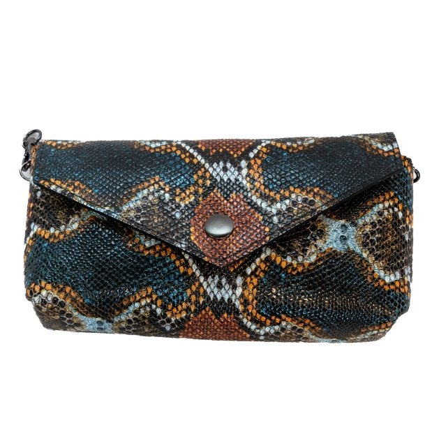 Multicolored Snake Leather Crossbody