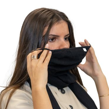 Unisex Neck Scarf with Attached Mask