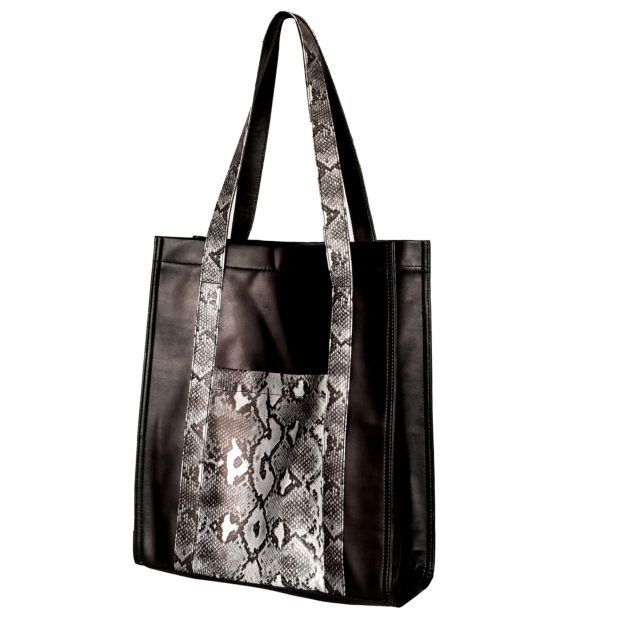 Antimicrobial Black and Snake Tote