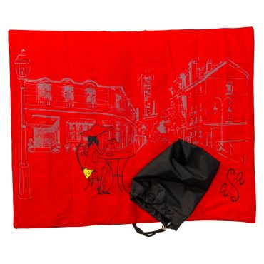 seat scarf red