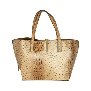 French Beige Tote With Shoulder Strap