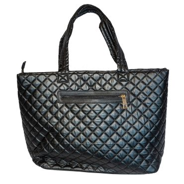 Large Nylon Tote With Attached Pouch