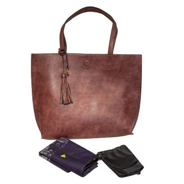 Large Wine Tote With Attached Pouch