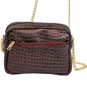 Purple Crocodile Leather Crossbody Bag Crossbody Bag. Make a statement with this beautifully designed crossbody where-ever you go. Perfectly fits your SEAT SCARF and more